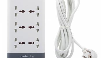 Ổ cắm 6 lỗ tích hợp smart USB, surge protection MASTERPLUG E6030U